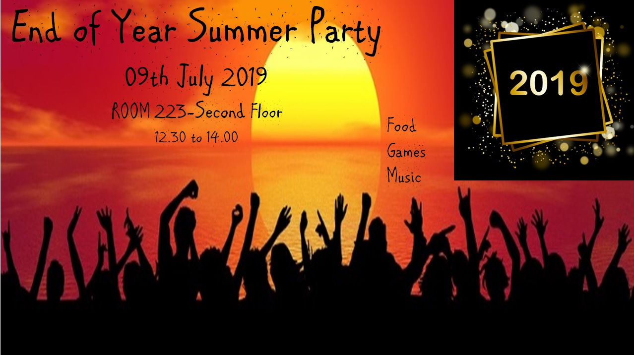 End of Year Summer Party 09th July 2019