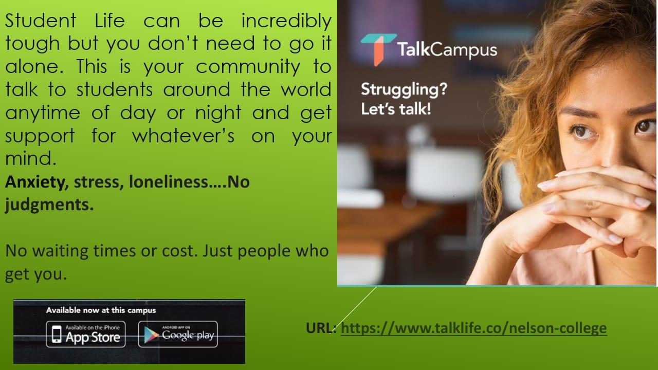 TALK CAMPUS - Struggling? Let's talk