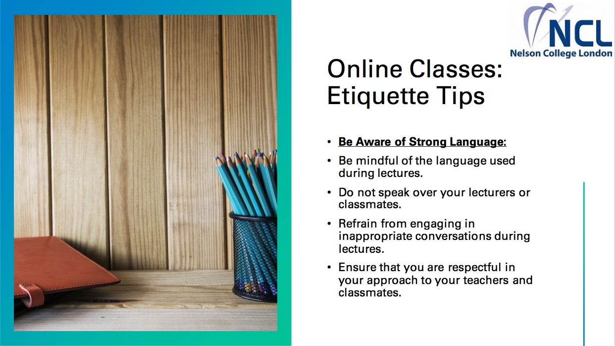Online Classes: Etiquette Tips