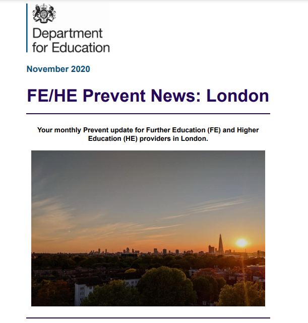 FE/HE Prevent News: London - Monthly Digest