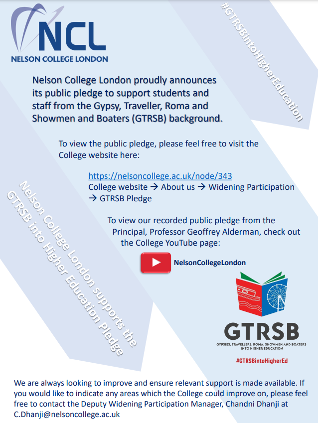 Nelson College London - GTRSB Pledge