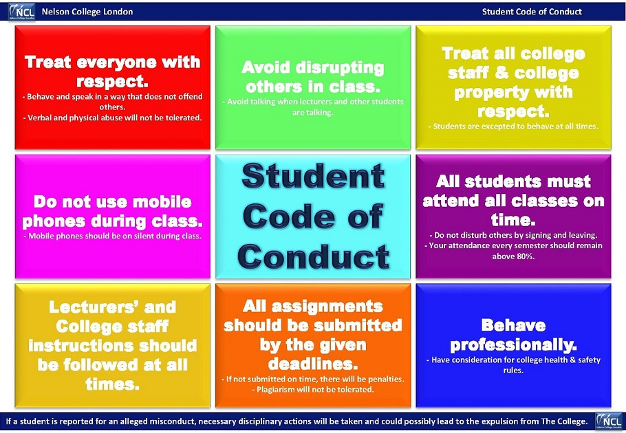 NCL VLE: Student Code of Conduct